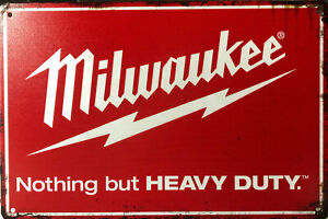 MILWAUKEE Garage Rustic Look Vintage Tin Signs Man Cave, Shed  Bar Sign