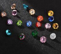 Cubic Zirconia Loose Stones  Round Brilliant bead round gems 8 mm - 2 Stones- 5A