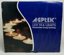 AGPtek 100 Battery LED Operated Amber Tea Lights Candles Flameless