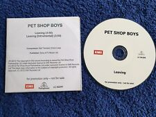 Pet Shop Boys Acetate Promo CD Leaving 2-track
