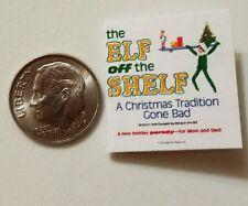Miniature dollhouse Christmas Elf on Shelf  book Barbie 1/12 Scale accessories E