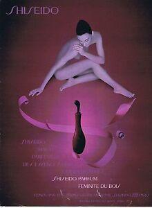 PUBLICITE ADVERTISING 114 1993 SHISEIDO parfum feminite du bois