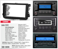 CARAV 11-101 DIN doble Marco de radio