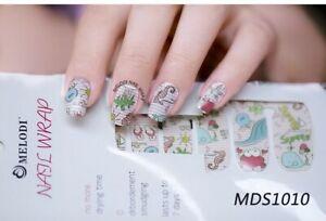 Nail Polish Strips 3D Gel Nail Arts Sticker Wraps Waterproof Manicure Pedicure