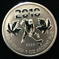 2010 Canada 1 oz .9999 Silver Maple Leaf. Olympic Hockey Special Edition #CO638