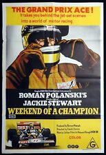 WEEKEND OF A CHAMPION Original One sheet Movie Poster Jackie Stewart Formula One