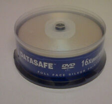 Datasafe Full Face Silver Printable DVD+R 16x 25 pack NEW