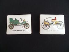Porcelaine de Paris 2 boites voitures anciennes collection Vintage