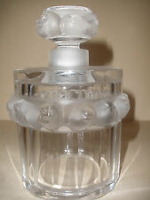 ROBINSON FRANCE LALIQUE PERFUME FLACON BOTTLE WITH RAISED FROSTED BIRDS SIGNED