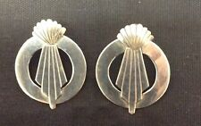 art deco earrings vintage sterling silver