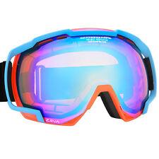 Skibrille Snowboardbrille neon orange blau  Antibeschlagscheibe 100% UV Schutz