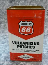 NOS Phillips 66 vulcanizing patch container, can