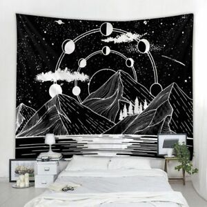Vintage Astrology Tapestry Sun Moon Phase Tapestry Art Wall Hanging Decoration