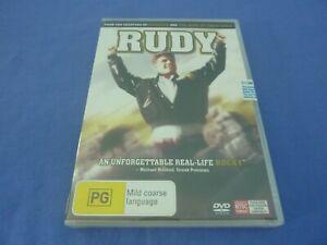 Rudy DVD Sean Astin Ned Beatty Jon Favreau  R4 New Sealed Free Tracked