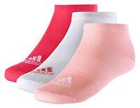 Adidas Womens Socks Training Performance No-Show Thin Sock 3 Pairs S99894 New