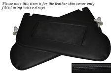 BLACK STITCHING FITS SAAB 93 9-3 900 1994-2002 2X SUN VISORS LEATHER SKIN COVERS