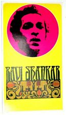 HIGH GRADE RAVI SHANKAR MUSIC POSTER vintage early 1970s