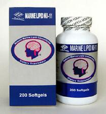 Marine Lipid NU-11 (200 Softgels) Omega 3 Lecithin  Vitamin E  Garlic Oil OPC