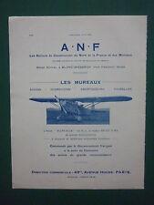 8/1932 PUB ANF LES MUREAUX NORD BLANC MISSERON AVION 110-R.2 AIRCRAFT AD