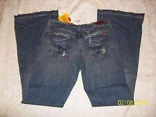 NWT BLUE 2 BLUE TWO DARK WASH LOW RISE FLARE LEG JEANS W 28 / 6 RET $104.99 USA