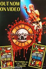 "Guns N' Roses ""Use Your Illusion"" Australian Promo Poster - Concert Shot & Logo"