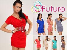 Sensual Women's Dress with Zipper Cowl Neck Tunic Style Size 8-12 5967
