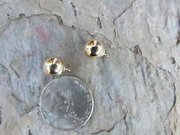 14 KT Yellow Gold Ball Add to Leverback or Wires Earring Charms NEW 8 MM