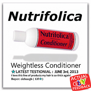 NUTRIFOLICA VOLUMIZING REGROWTH WEIGHTLESS CONDITIONER hair loss thicker growth