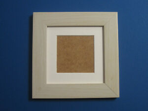 Ivory Effect 6x6 Square Photo Picture Frame Mount 4x4 Hang