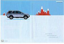 PUBLICITE ADVERTISING  2002   HONDA   CR-V   (2 pages)