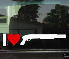 I LOVE MOSSBERG SHOTGUNS WINDOW/BUMPER STICKER