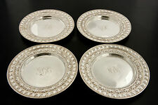 Set of 4 Tiffany & Co. Sterling Silver Plates Dishes & Coasters