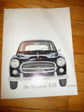 Peugeot 403 Sales Brochure w/ Car Life Report on 403 and 404