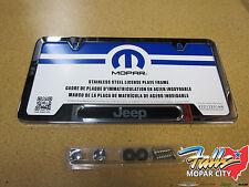 Jeep Wrangler Cherokee Liberty Commander Chrome License Plate Frame Mopar OEM