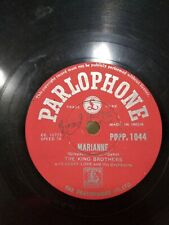 THE KING BROTHERS geoff love marianne/little Parlophone RARE 78 RPM INDIA EX-
