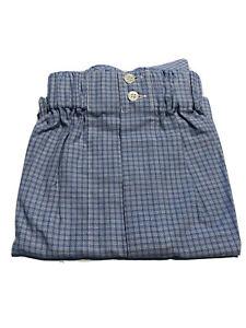 Brioni Bergdorf Goodman 100% Cotton Blue Checkered Men's Boxer Shorts Underwear