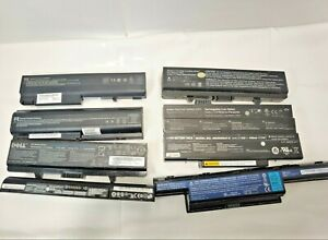 X8 Laptop Batteries Not Tested From House Clearance Wholesale Resale Job Lot