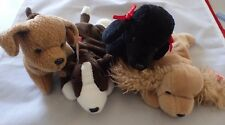 Ty Beanie Baby Lot of (4) Dogs - Bruno, Tuffy, Spunky and GiGi