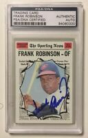 FRANK ROBINSON Signed Autograph 1970 Topps Baseball Card PSA/DNA Orioles