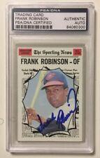 FRANK ROBINSON Signed Autograph 1970 Topps Baseball Card PSA/DNA Orioles