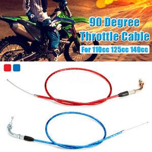 90 Degree Throttle Accelerator Cable 90cm 110cc 125cc 140cc Pit Dirt Bike  /