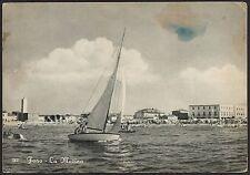 AD3738 Pesaro - Provincia - Fano - La Marina - Scorcio panoramico - Barca a Vela