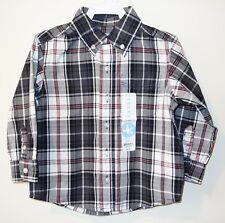 Brand New J.Khaki Black Plaid Shirt ~ Boy's Size 2T
