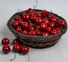 100 pcs red Cherry Fake Fruit faux food Kitchen Party Decorative great quality
