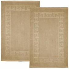100% Cotton Bath Mats   Towel Bath Mat for Floors  Bath Mats- Greek Style Tan