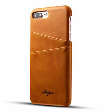 Luxury PU Leather Skin With Card Holder Back Cover Case for iPhone 7 8 6S 7Plus
