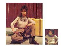 Women's and Girls' DK Fair Isle Yoke Sweater Vintage Knitting Pattern