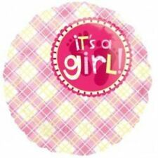 """Anagram NEW BABY IT'S A GIRL Pink Congratulations Round Foil Helium Balloon 18"""""""