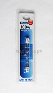 Philips Plusline R7 1 x 100W Linear Tungsten Halogen Light Globe 78mm 2k hr 240V