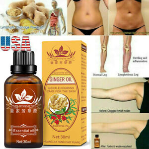 Lymphatic Drainage Ginger Essential Oil Body Massage Therapy Essence Skin Care